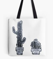 Chalk Board Cacti Tote Bag