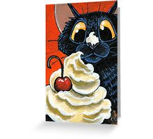 Cat that got the Cream Greeting Card