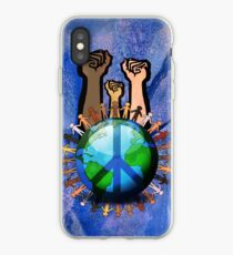 Unity And Peace - Raised Fists! iPhone Case