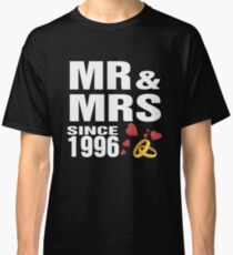 Top Gifts For Wedding Anniversary Since 1996. Funny T-shirt For Couples Classic T-Shirt