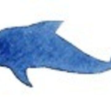 pequeño delfín azul de stickersnstuff