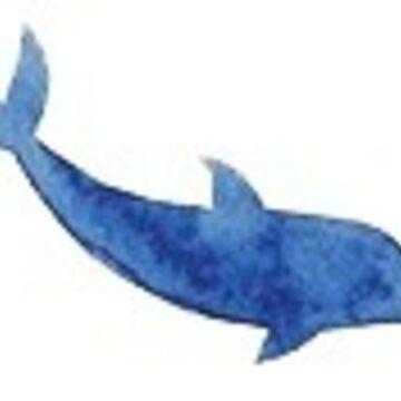 pequeño delfín azul 2 de stickersnstuff