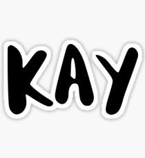 KAY Sticker