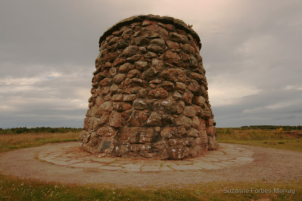 Memorial Cairn Culloden by Suzanne Forbes-Murray