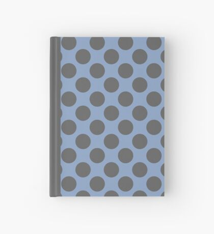 Blue and Grey Polka Dots Hardcover Journal