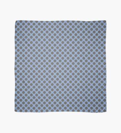Blue and Grey Polka Dots Scarf