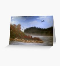 Beautiful Landscape Tranquil Countryside Greeting Card