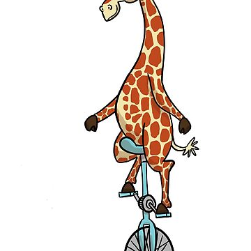 Sunglassed Giraffed Giraffe Unicycle by Dersee