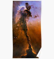 Hubble Space Telescope Print 0024 - The Eagle Has Risen - Stellar Spire in the Eagle Nebula  - hs-2005-12-b-full_jpg Poster