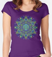 Psychedelic Bassnectar Sacred Mandala Trippy Hallucinogenic  Women's Fitted Scoop T-Shirt