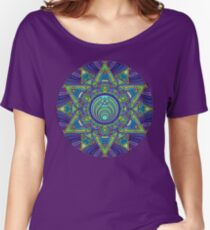 Psychedelic Bassnectar Sacred Mandala Trippy Hallucinogenic  Women's Relaxed Fit T-Shirt