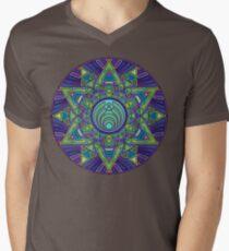 Psychedelic Bassnectar Sacred Mandala Trippy Hallucinogenic  Men's V-Neck T-Shirt
