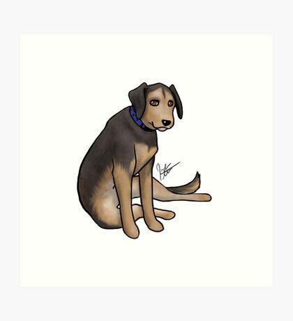 Scout the Saddest Puppy Art Print