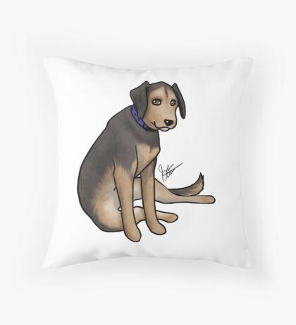 Scout the Saddest Puppy Throw Pillow