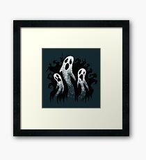 Spooky Ghosts for Halloween Framed Print