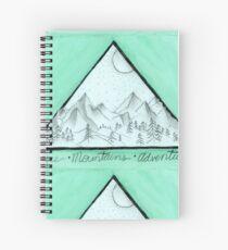 Coffee Mountains Adventure Spiral Notebook