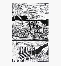 Myths and Legends of Utopia - Lino Print   Photographic Print