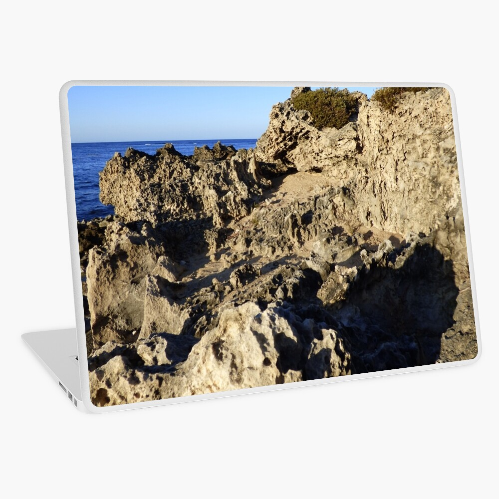 Light and Shadows on the Beach Laptop Skin