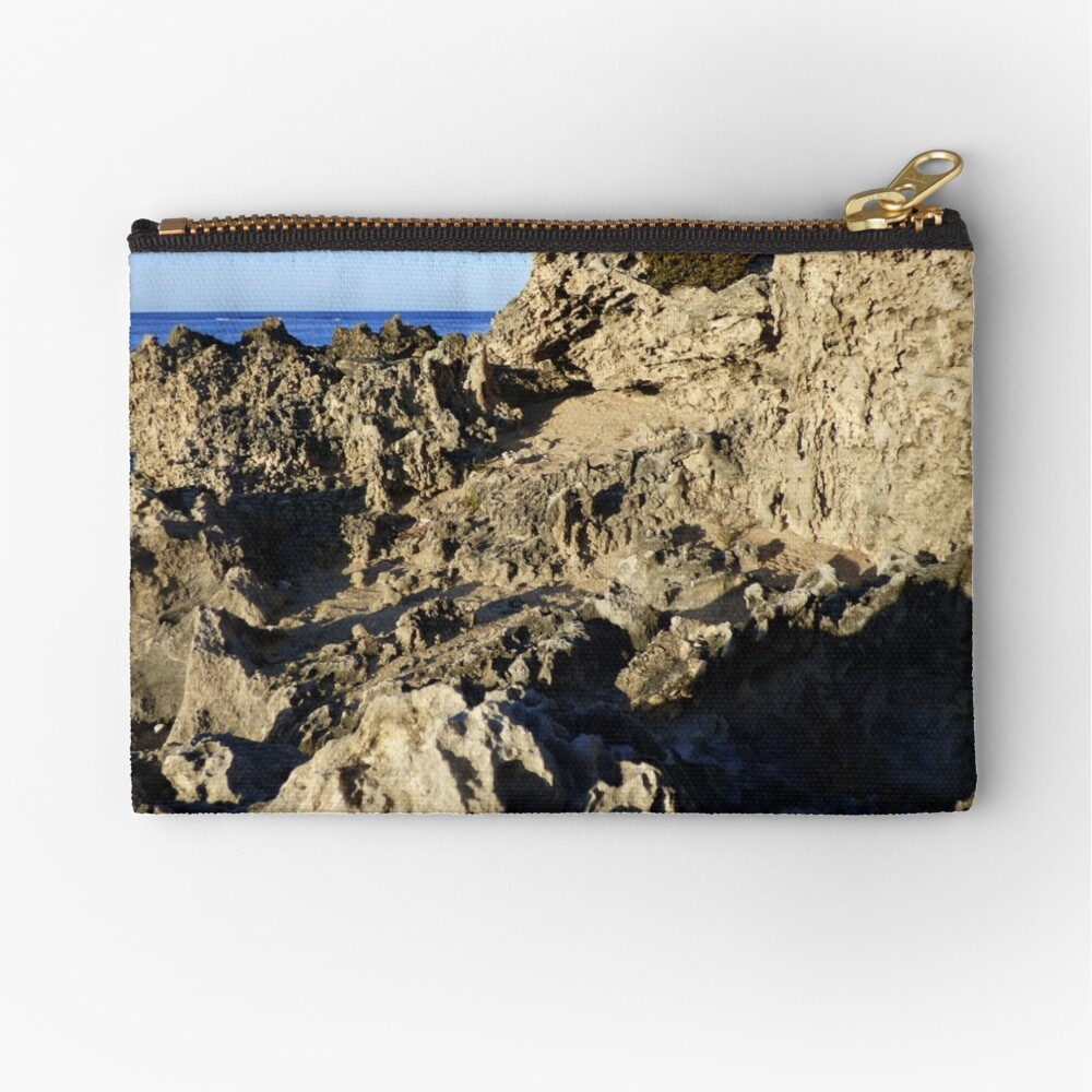 Light and Shadows on the Beach Zipper Pouch
