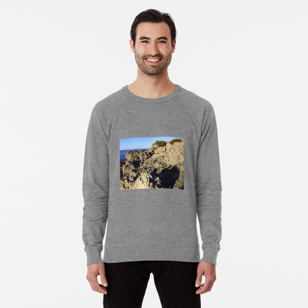 Light and Shadows on the Beach Lightweight Sweatshirt