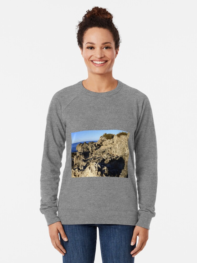 Alternate view of Light and Shadows on the Beach Lightweight Sweatshirt
