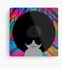 Funky Music Afro Vinyl Records Metal Print