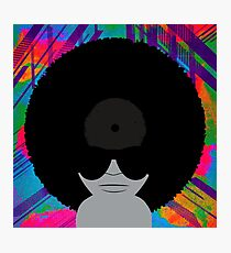 Funky Music Afro Vinyl Records Photographic Print