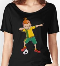 Dabbing Soccer T shirt for Boys Dab Dance Funny Football Tee Women's Relaxed Fit T-Shirt