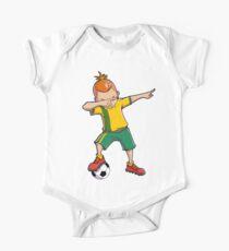 Dabbing Soccer T shirt for Boys Dab Dance Funny Football Tee One Piece - Short Sleeve