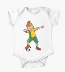 Dabbing Soccer T shirt for Boys Dab Dance Funny Football Tee One Piece - Short Sleeve