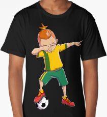 Soccer Boy Dabbing Dab Dance T shirt Funny Football Boys Tee Long T-Shirt