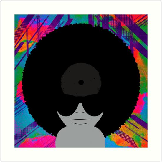 Funky Vinyl Records - Music Art by Denis Marsili