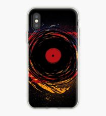 Vinyl Record Retro Grunge with Paint and Scratches - Music DJ! iPhone Case