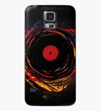 Vinyl Record Retro Grunge with Paint and Scratches - Music DJ! Case/Skin for Samsung Galaxy