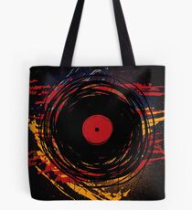 Vinyl Record Retro Grunge with Paint and Scratches - Music DJ! Tote Bag