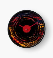 Vinyl Record Retro Grunge with Paint and Scratches - Music DJ! Clock