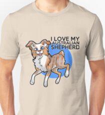 I Love My Red Merle Australian Shepherd! T-Shirt
