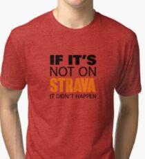IF IT'S NOT ON STRAVA IT DIDN'T HAPPEN Tri-blend T-Shirt