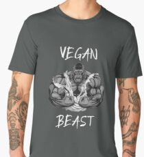 Funny Vegan Vegetarian Workout Gym Beast T-Shirt  Men's Premium T-Shirt