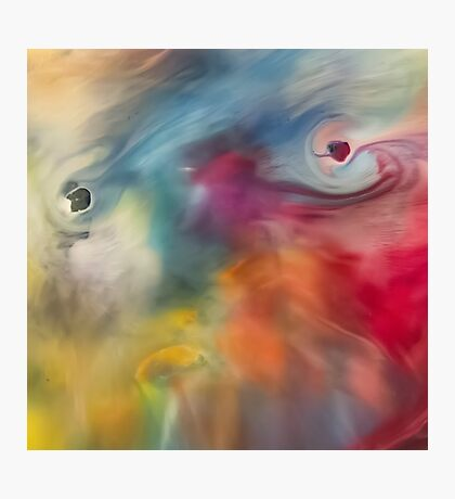 Colored watercolor abstraction painting Photographic Print