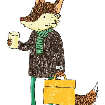 Mr. Fox with coffee by surfingsloth