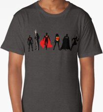 JL Minimalist Superhero Graphic Long T-Shirt