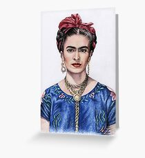 Tribute to Frida Kahlo Greeting Card