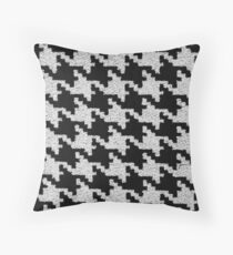 Pied de Poule | Black and White | Pattern Throw Pillow
