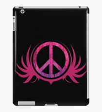 Peace Sign with Grunge Texture and Wings iPad Case/Skin