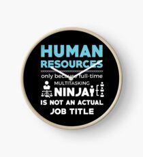 HUMAN RESOURCES Clock