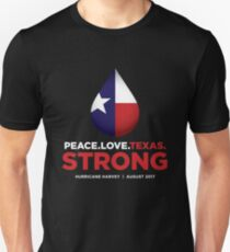 Peace Love Texas Strong - Hurricane Harvey T-Shirt