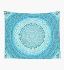 White Coastal Spray Mandala  Wall Tapestry