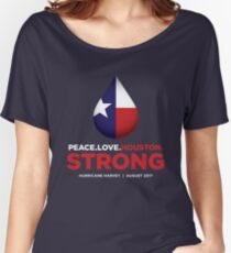 Peace Love Houston Strong - Hurricane Harvey Women's Relaxed Fit T-Shirt