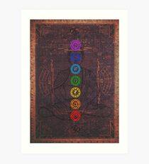 Die sieben Chakras Kunstdruck